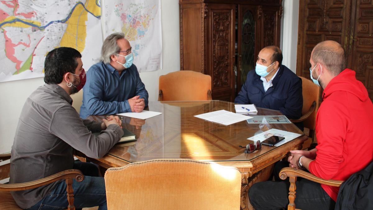 Reunión entre Francisco Guarido y el delegado saharaui en Castilla y León.
