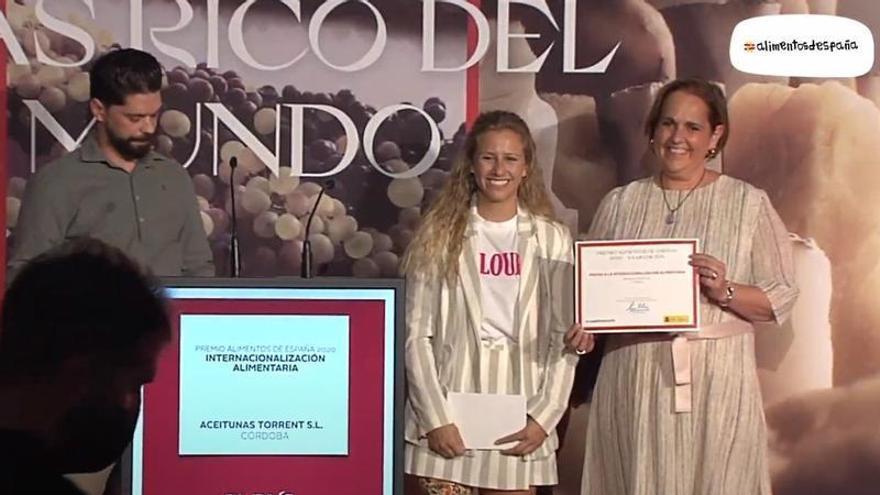 La empresa cordobesa Aceitunas Torrent recibe el premio Alimentos de España