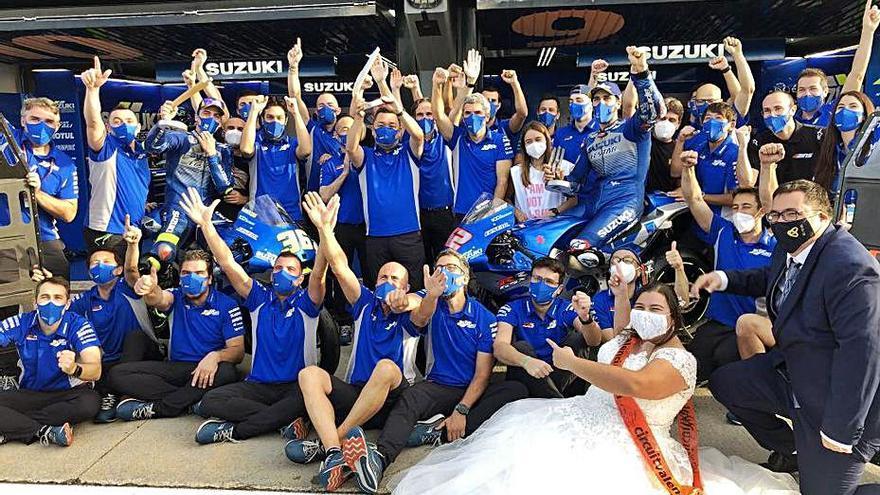 Celebración de boda en Cheste en la fiesta de Suzuki