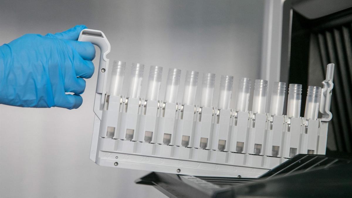 PCR en un laboratorio.