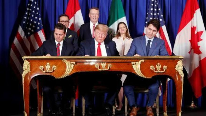 EUA, Canadà i Mèxic signen un renovat acord comercial