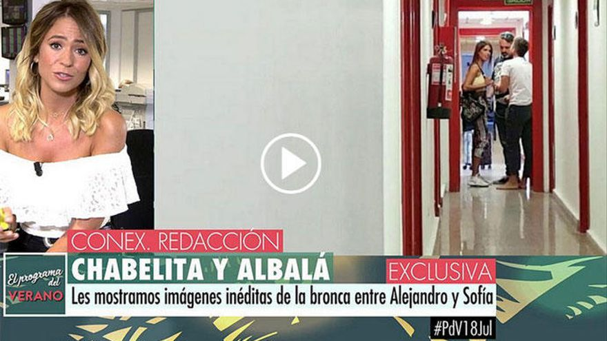 La acalorada pelea de Alejandro Albalá y Sofía Suescun en los pasillos de Telecinco
