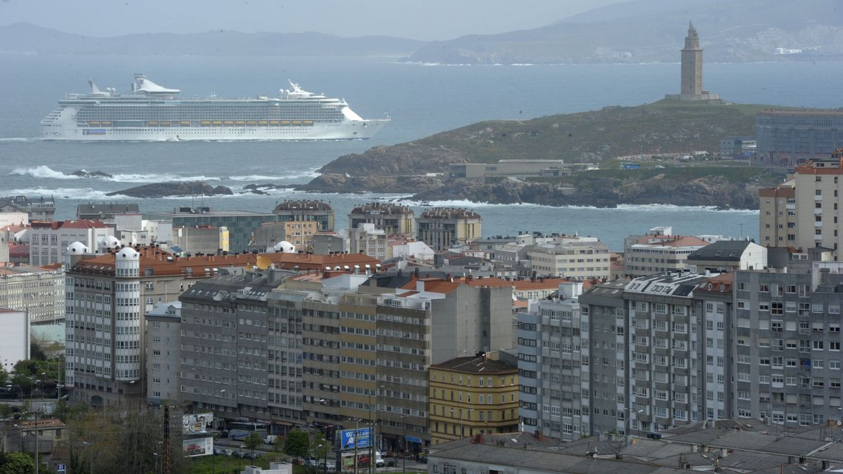 Vista de la ciudad de A Coruña.