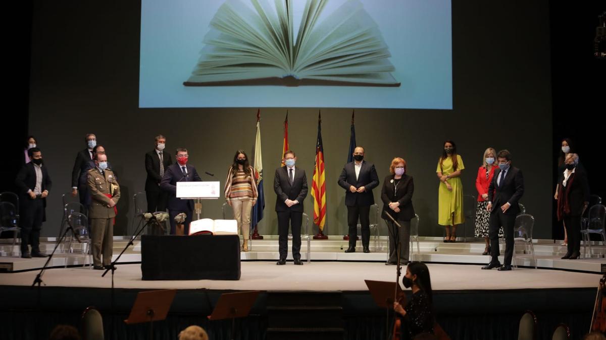 Imagen del acto celebrado en Alicante por el Día de la Constitución