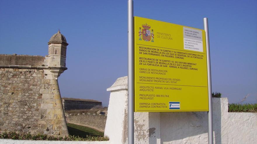 El govern espanyol declara l'emergència de les obres del castell de Sant Ferran