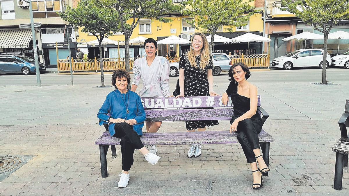 Julieta Serrano, Nata Moreno, Pilar Palomero y Aitana Sánchez-Gijón, este sábado en La Almunia.