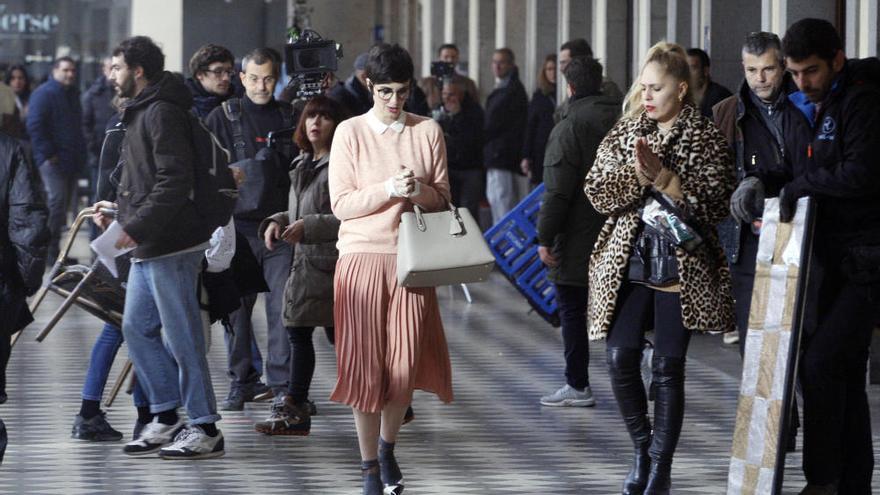 L'actriu Paz Vega grava un anunci d'ulleres a Girona
