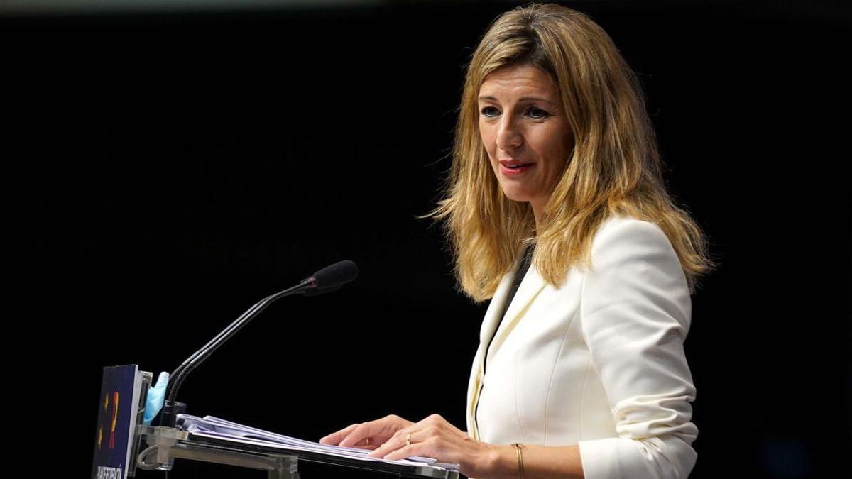 La Vicepresidenta tercera y ministra de Trabajo y Economía Social Yolanda Diaz.