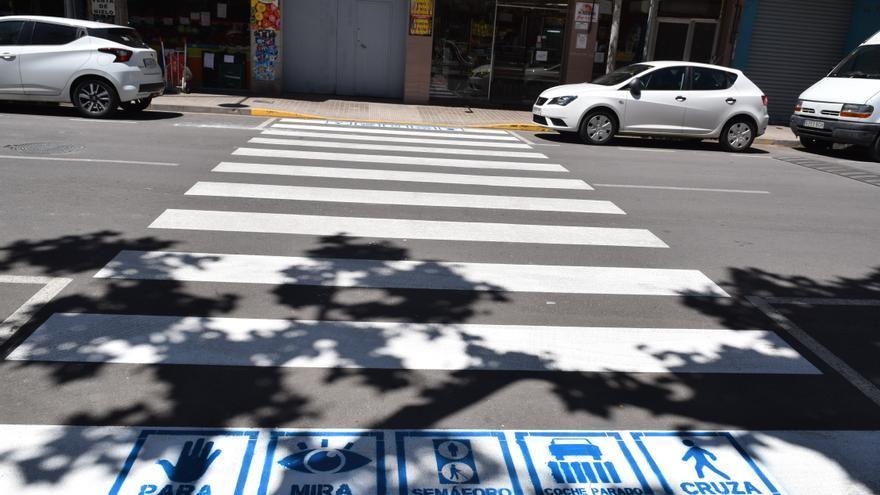Paso de peatones inclusivo en Sedaví