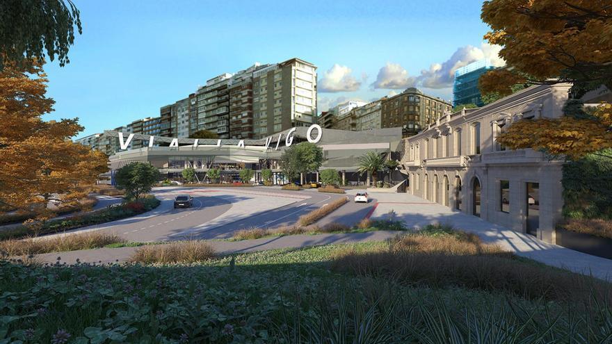 Así será la nueva plaza de acceso a la estación del AVE en Vigo