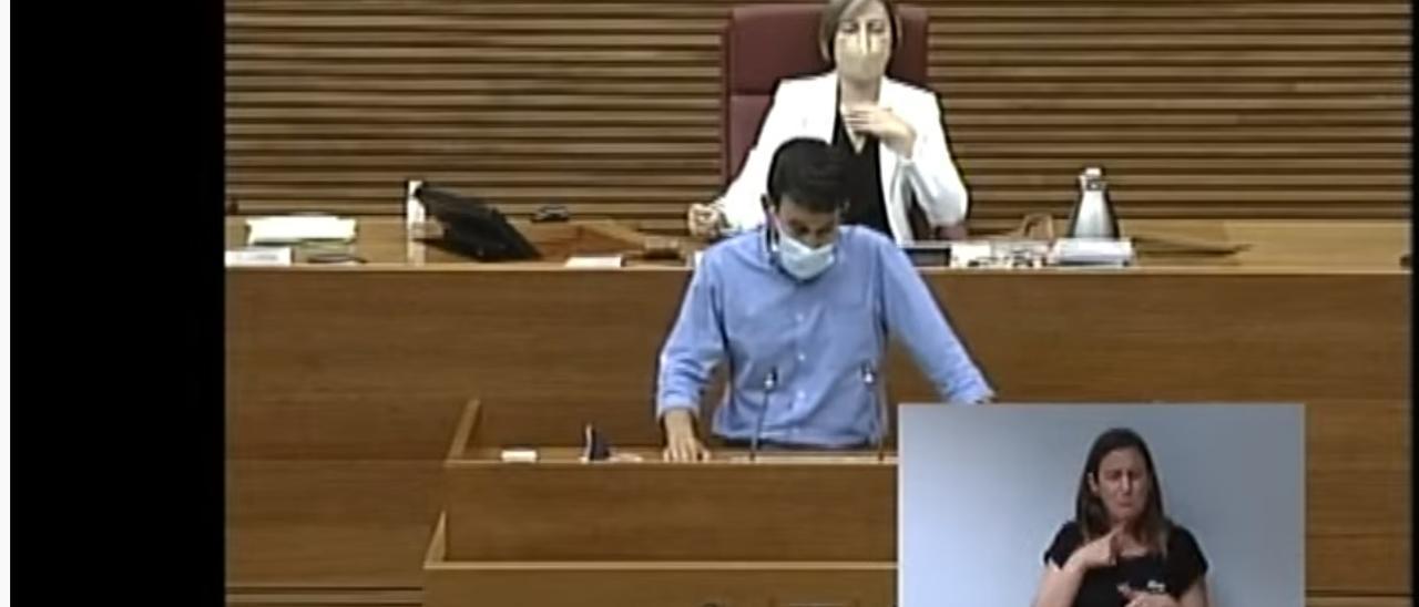 El conseller Vicent Marzà en el debate de la Ley del Palmeral
