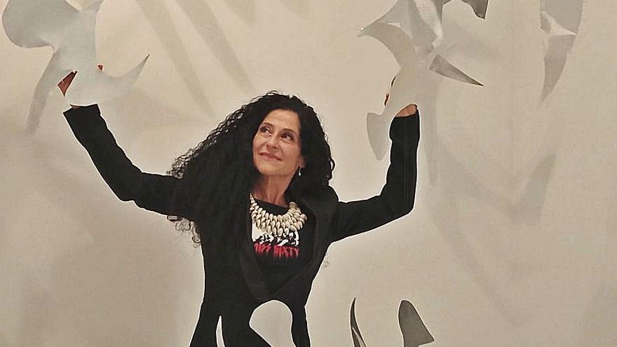 """""""Nihil"""", las pinturas y esculturas de Tareixa Taboada que conquistan Madrid"""