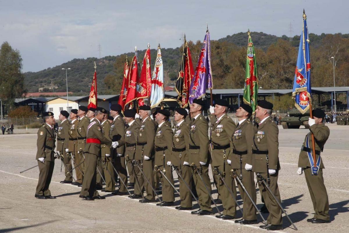 Parada militar en Cerro Muriano con motivo de la Inmaculada, patrona de la Infantería