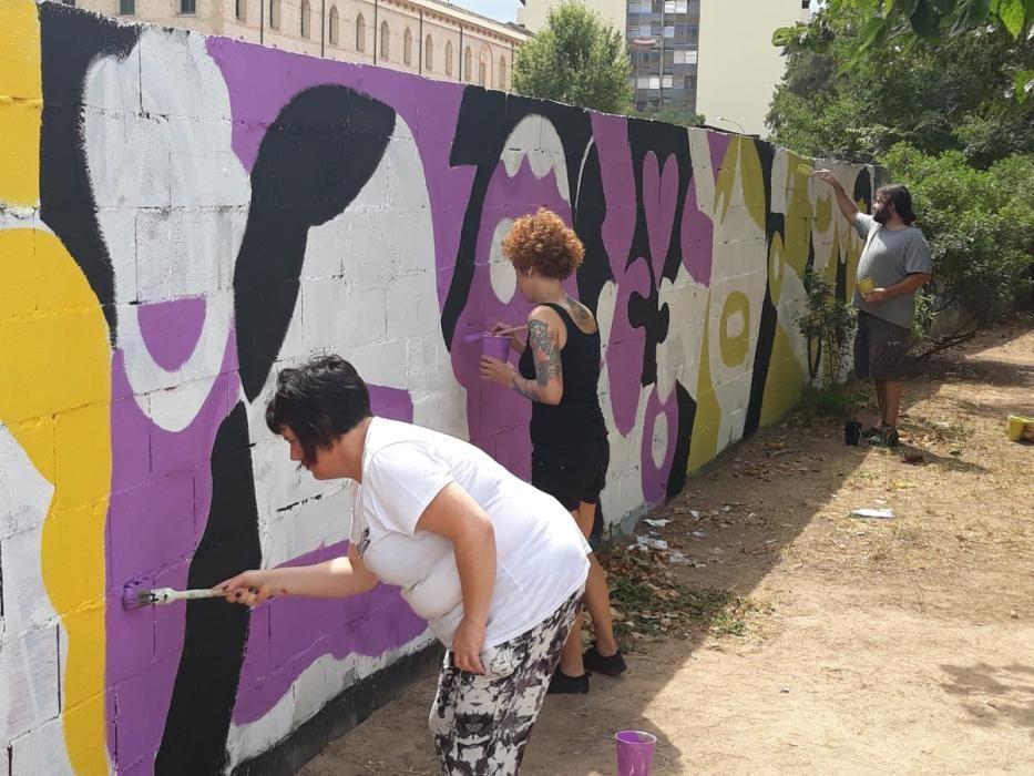 Así se hizo el mural en favor de los condenados de Alsasua