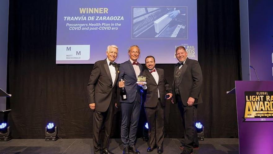 El tranvía de Zaragoza gana en Londres el premio a la Mejor Iniciativa de Seguridad