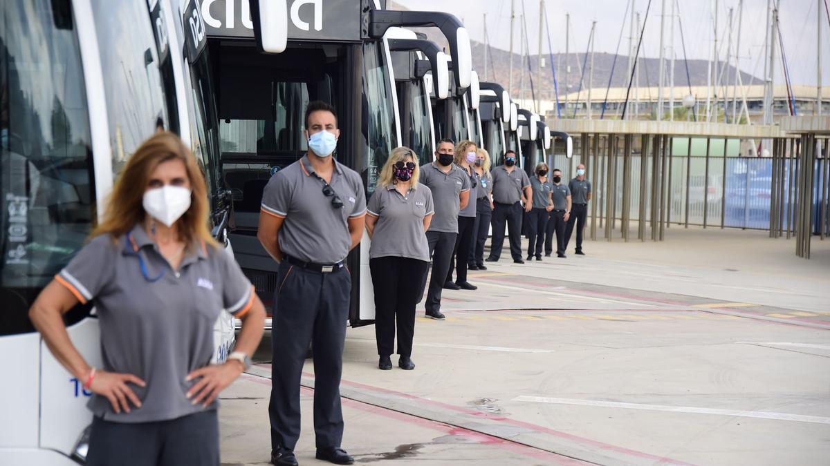 Diez autobuses menos contaminantes y más eficientes para Cartagena.
