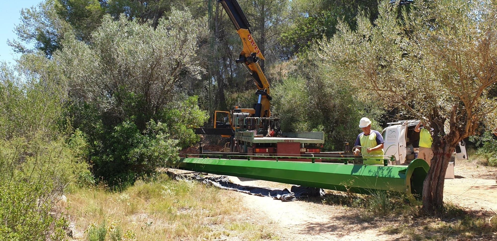 Comienza la instalación de las torres de agua del proyecto Guardian en Riba-roja
