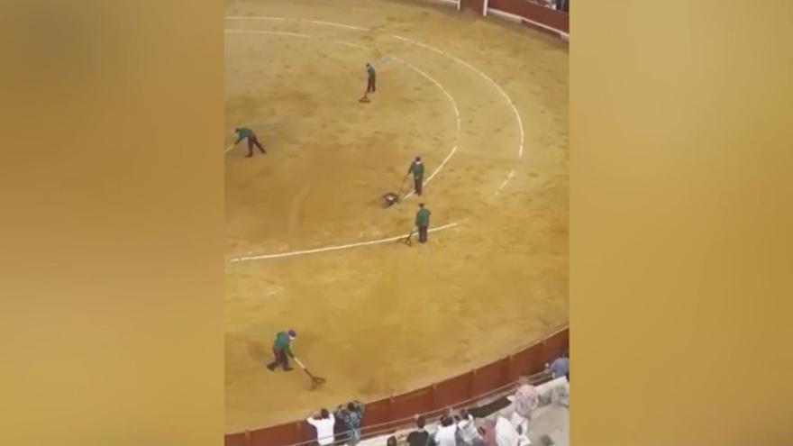 Se viraliza una graciosa escena que ocurrió en una plaza de toros