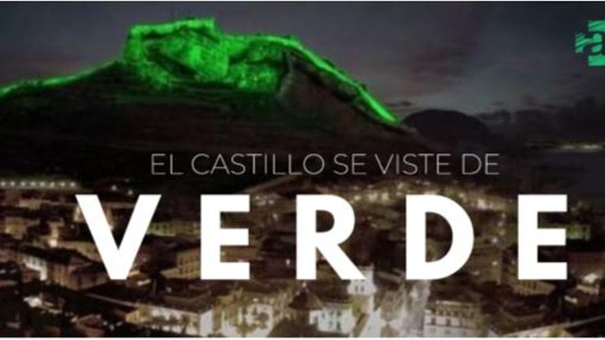 El Castillo de Santa Bárbara se ilumina mañana de verde en homenaje a los farmacéuticos