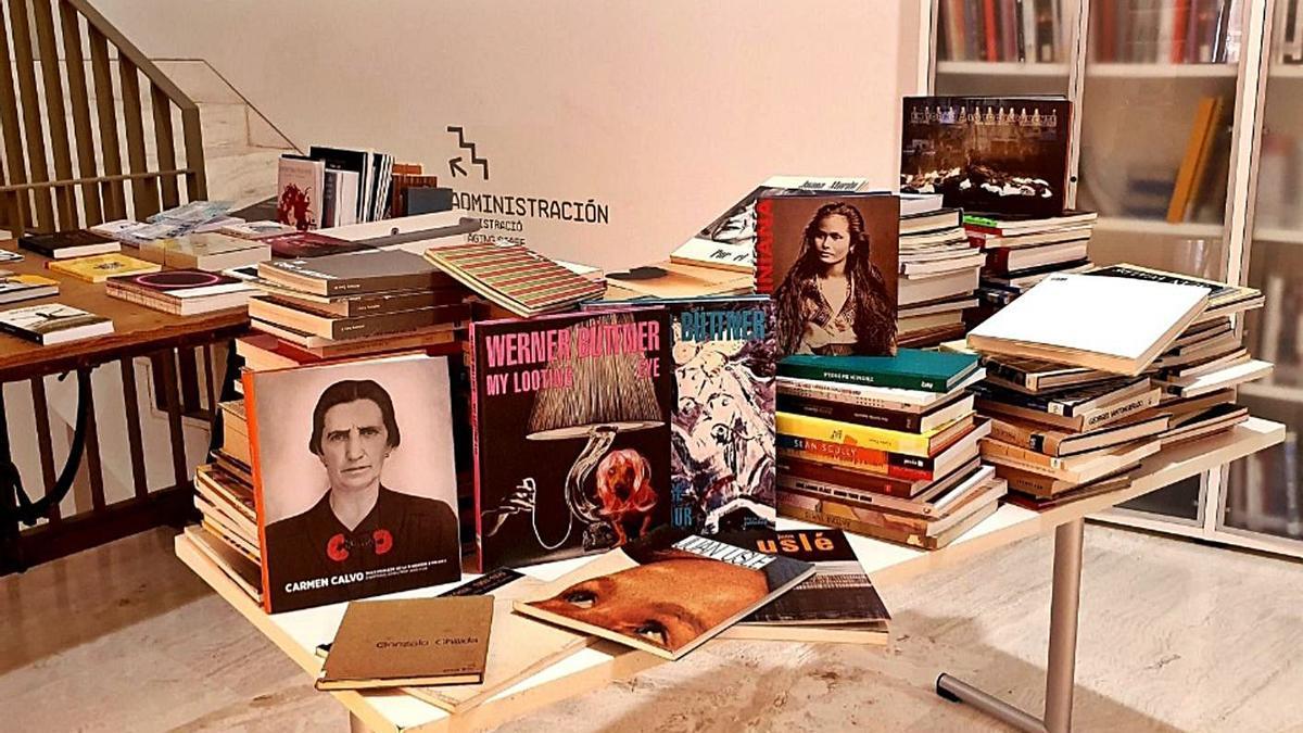 Algunas de las publicaciones del Reina Sofía donadas al MACA.