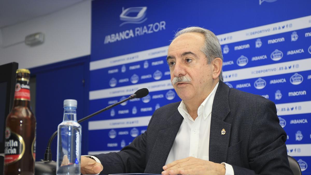Antonio Couceiro, presidente del Deportivo.