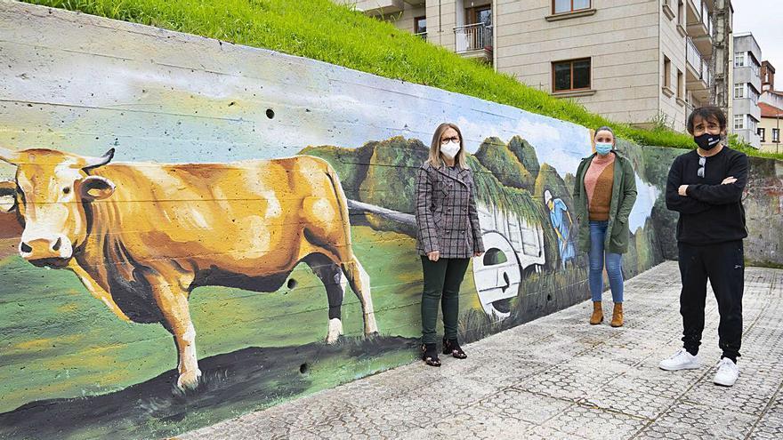 """""""Para facer o mural realista inspireime en miña avoa e como ela facía os labores"""""""