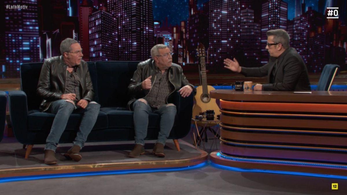 Raúl Pérez, Juan Salazar y Andreu Buenafuente en 'Late motiv'.