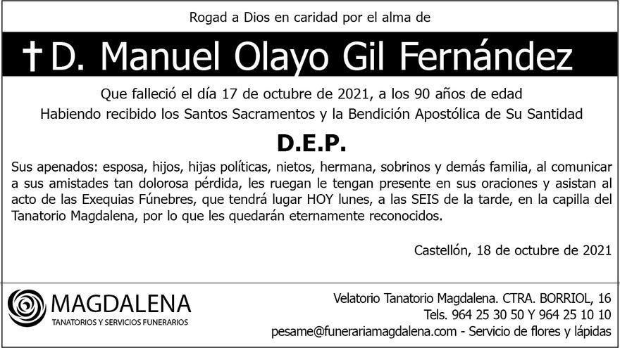 D. Manuel Olaya Gil Fernández