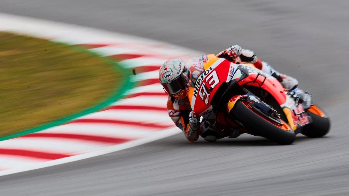 Marc Márquez durant el campionat de MotoGP de l'any passat