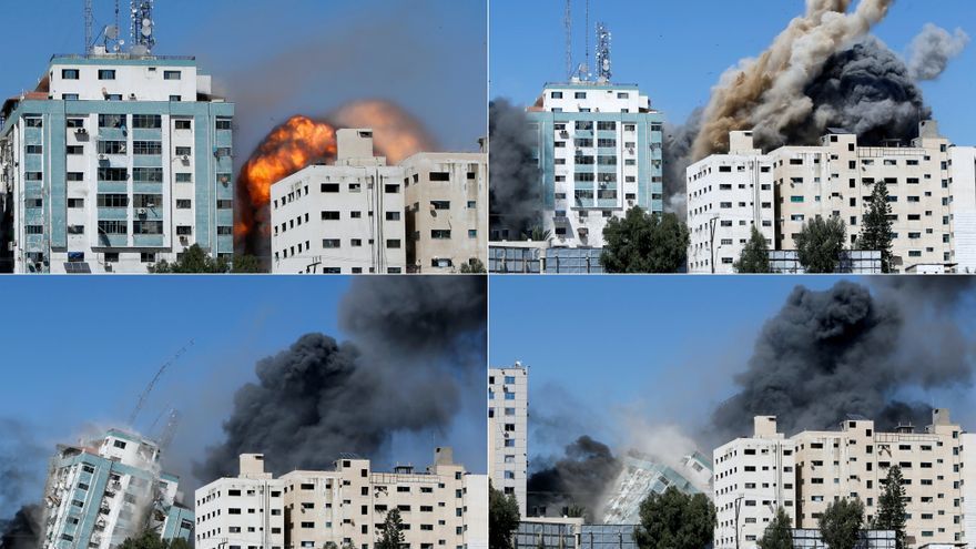Israel bombardea la sede de la agencia AP y otros medios internacionales en Gaza