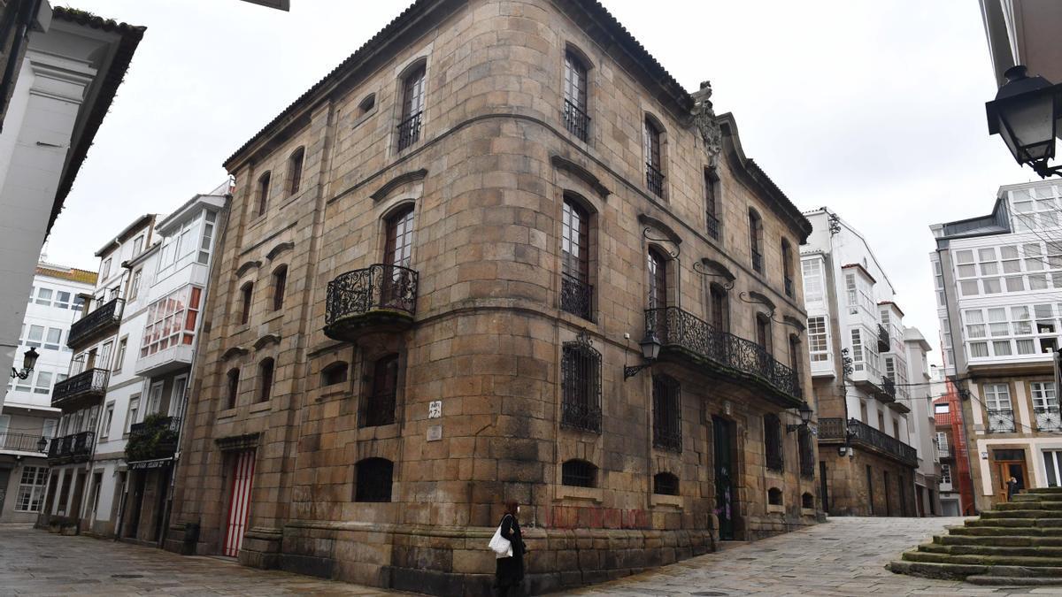 Exterior de la Casa Cornide en la Ciudad Vieja.