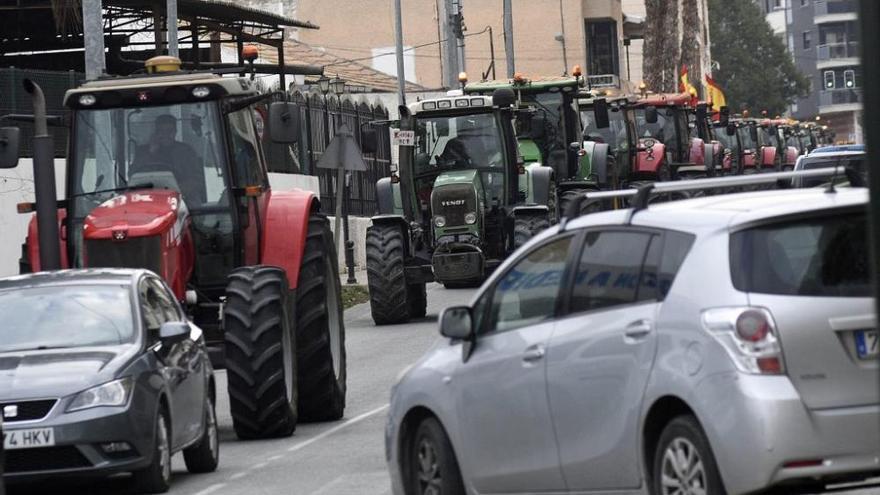 Así ha sido la manifestación de los agricultores en Murcia (II)