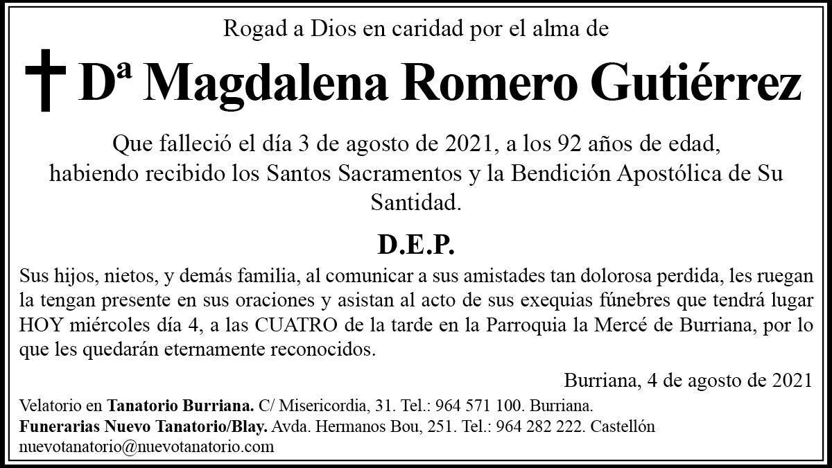 Doña Magdalena Romero Gutiérrez