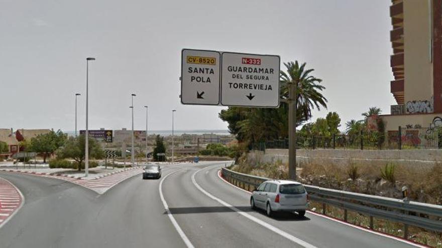 Compromís per Santa Pola presenta una moción para exigir la mejora de los accesos y el desdoble de la carretera N-332