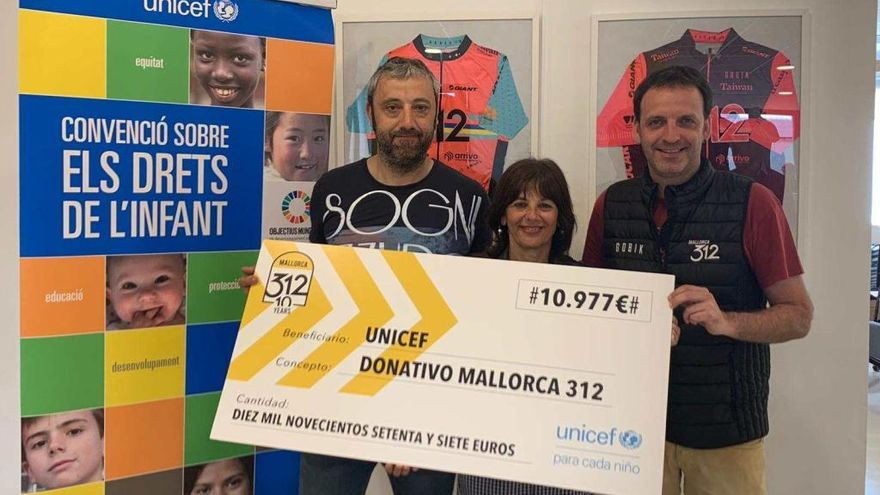 La Mallorca 312 dona más de 10.000 euros a UNICEF