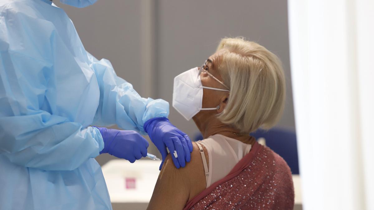 Vacunación en Málaga en una imagen de archivo