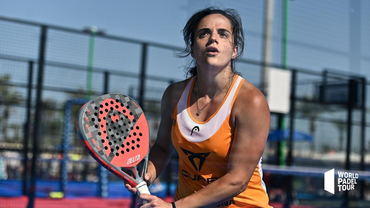 Paula Josemaría, durante el partido de dieciseisavos en Marbella.
