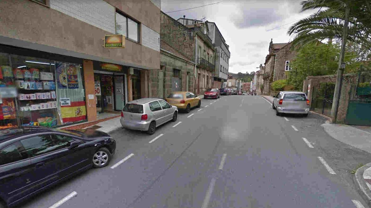 Un tramo de la calle Augasantas donde ocurrió el accidente.