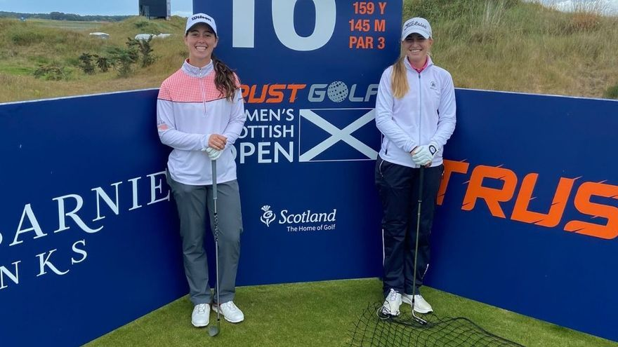 Nuria Iturrioz y Luna Sobrón buscan los puntos para entrar en la Solheim Cup en el Scottish Open