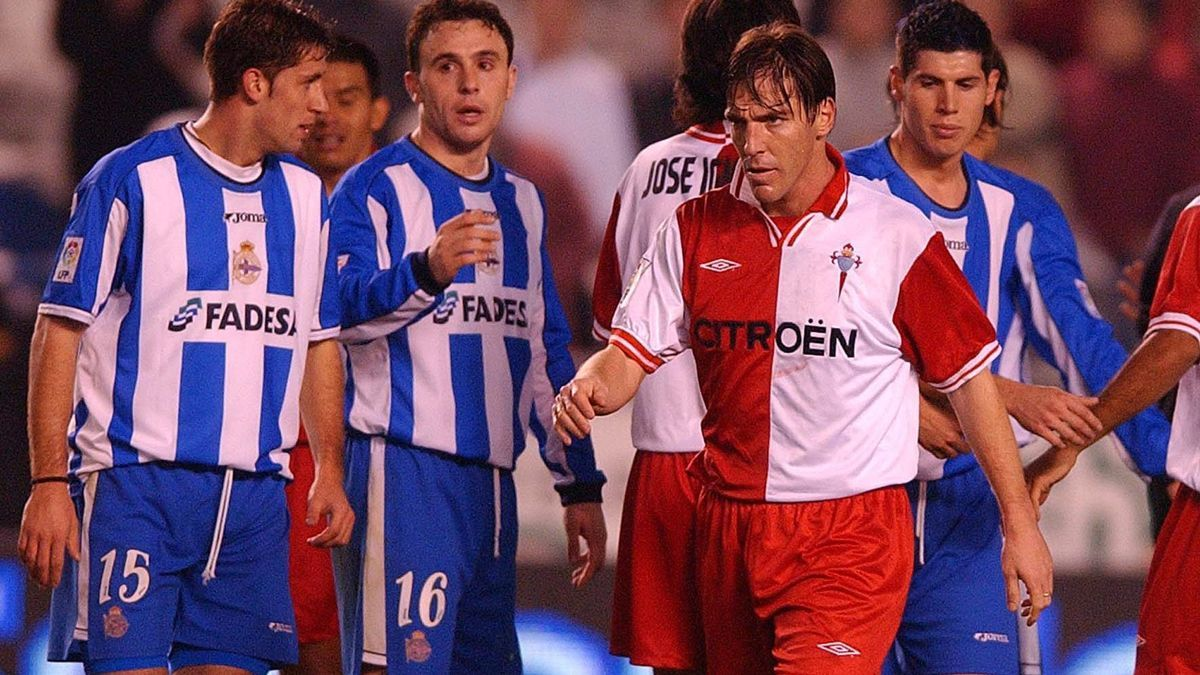 """Eduardo Berizzo anotó un gol en su primer derbi con la camiseta """"olívica"""" del club en 2001"""