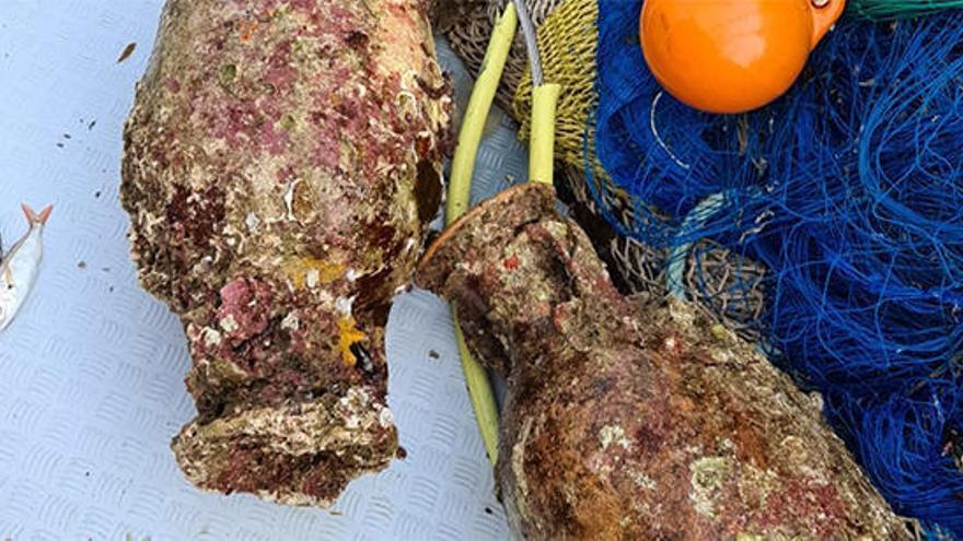Pescan cuatro ánforas en Ibiza