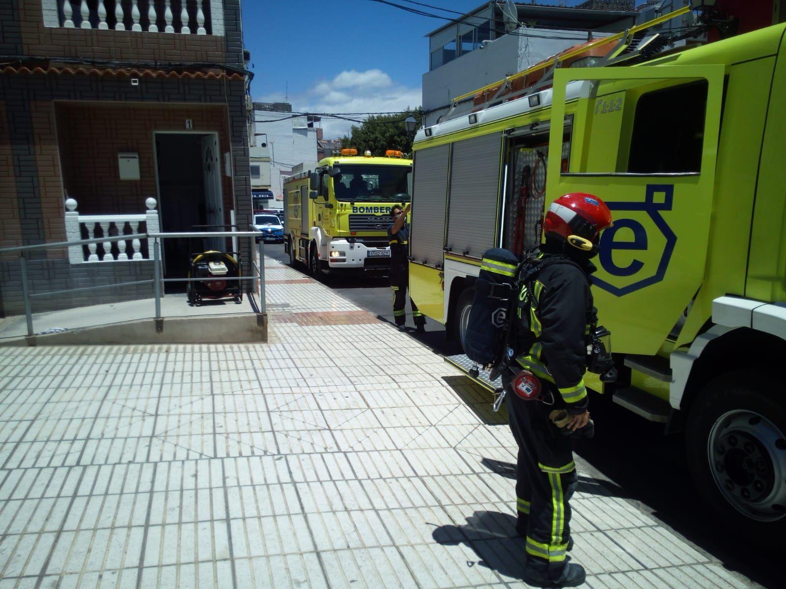 Incendio en una vivienda en Arguineguín