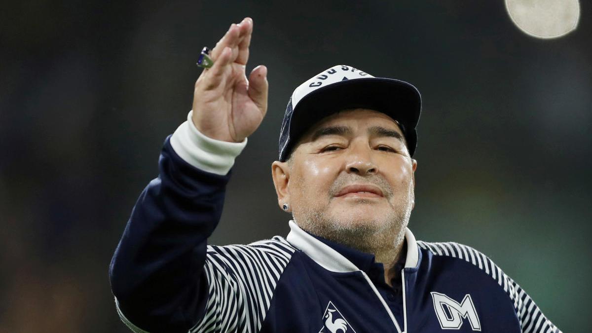 Diego Armando Maradona en una foto d'arxiu
