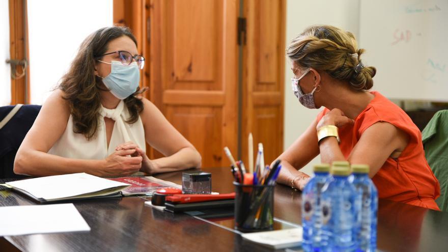 Oltra y Díaz niegan que su cita con Colau en Valencia sea germen de alianza