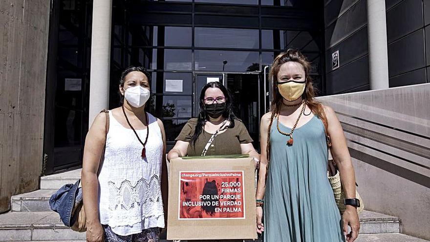 Decepción entre las madres que exigen «un verdadero parque inclusivo» en Palma