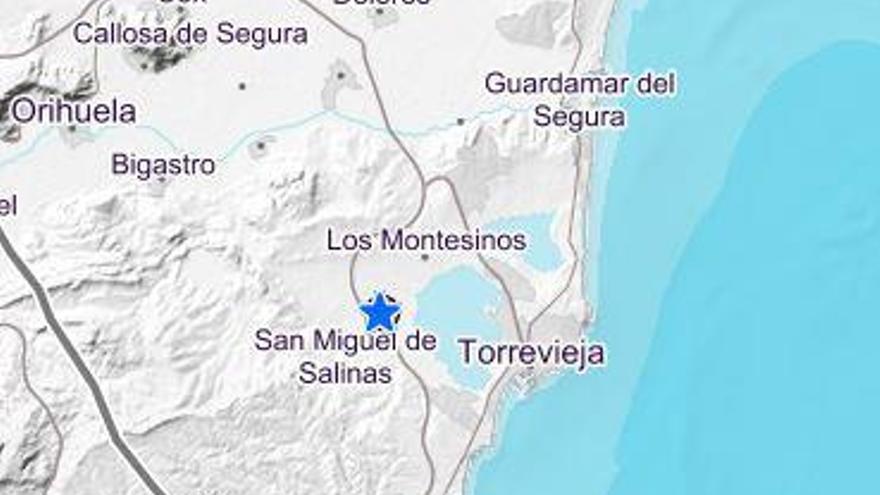 Un terremoto de 3,1 grados en San Miguel de Salinas alerta a la comarca