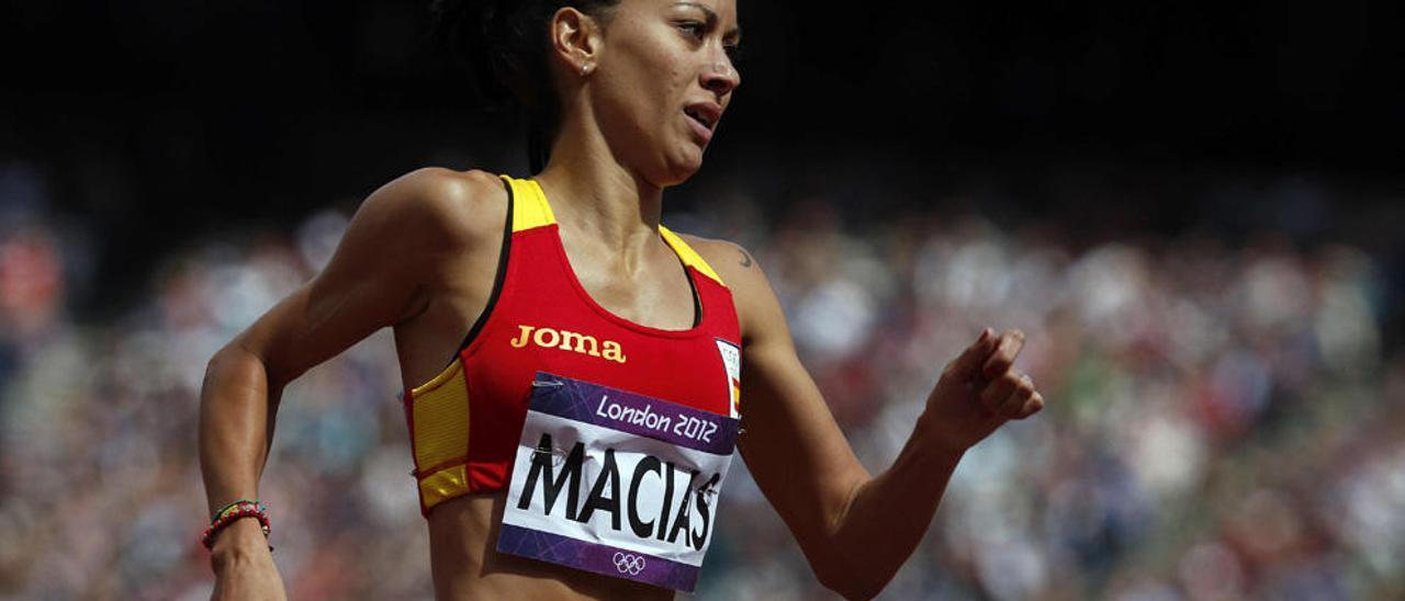 Isabel Macías, durante los Juegos Olímpicos de 2012.
