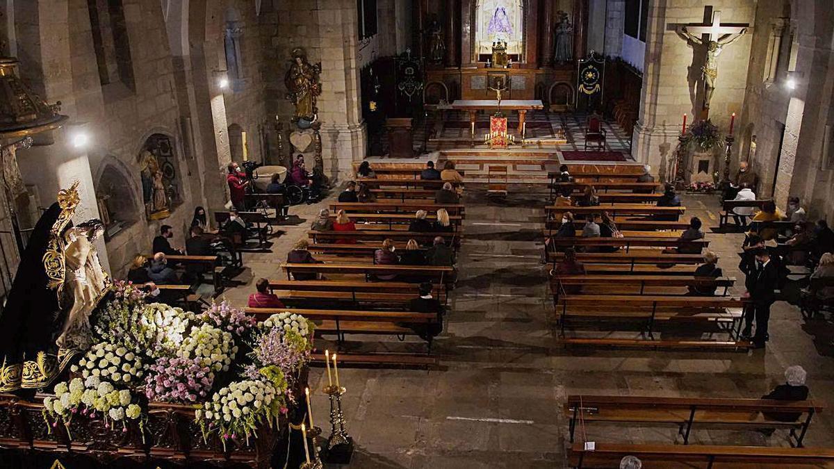 Imagen del acto celebrado por la cofradía de Nuestra Madre de las Angustias. |
