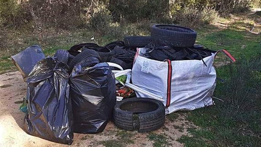 Recullen dues tones de residus a Caldes
