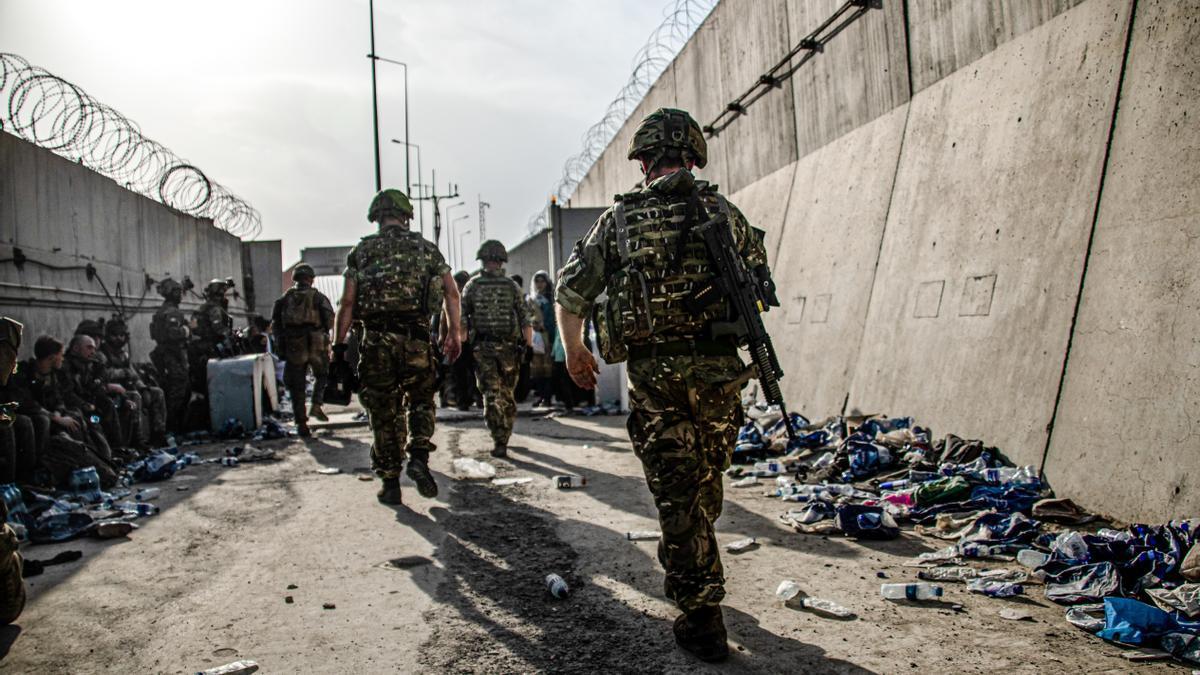 Soldados británicos en Kabul.